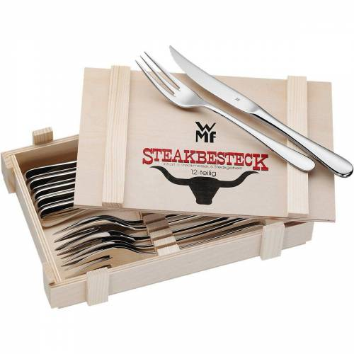 WMF Steakmesser »12-tlg. Steakbesteck Set in Holzkiste«