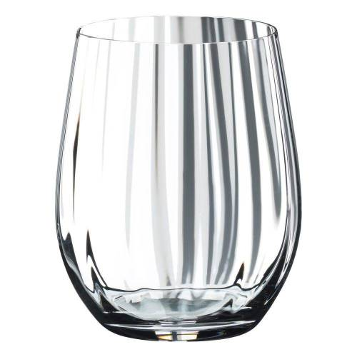 RIEDEL Glas Gläser-Set »Optic O Whisky 2er Set 344 ml«, Kristallglas