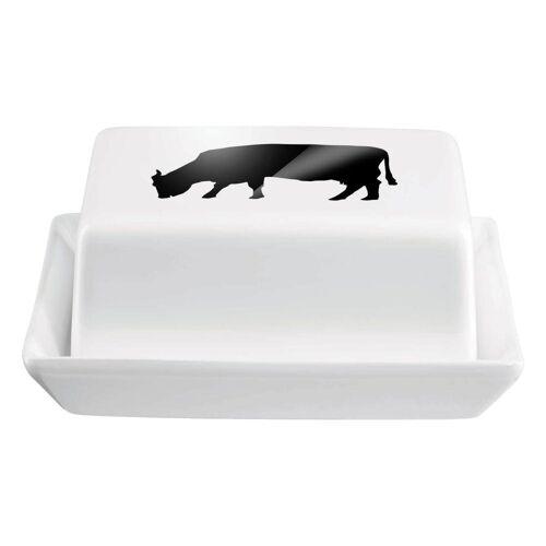 ASA SELECTION Butterdose »Grande mit Kuh Motiv L 16.5 cm«, Keramik, (1-tlg)