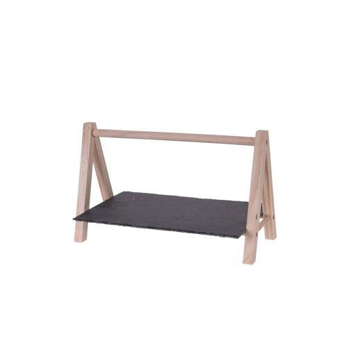 HTI-Living Servierplatte »Servierplatte Servierplatte«, Schiefer, Holz, (1-tlg)