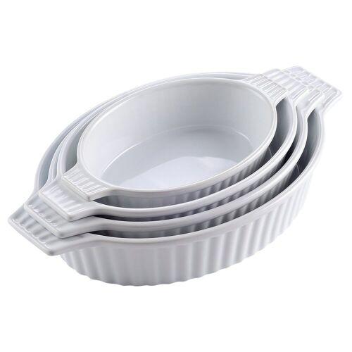 MALACASA Backform »Bake.Bake«, (4-tlg), mikrowellengeeignet, Weiß