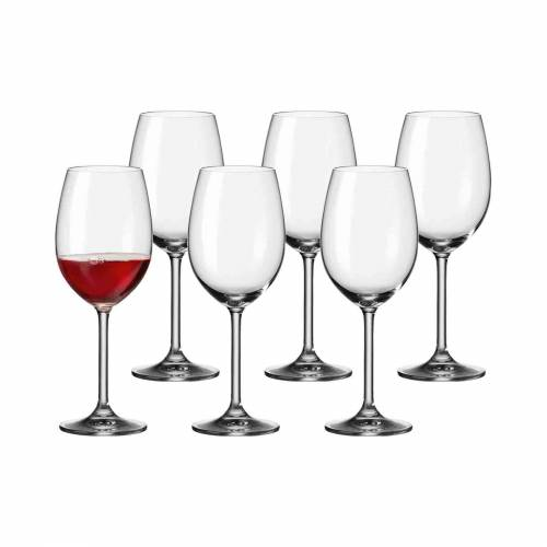 LEONARDO Rotweinglas »DAILY Rotweinglas 180ml 6er Set« (6-tlg)