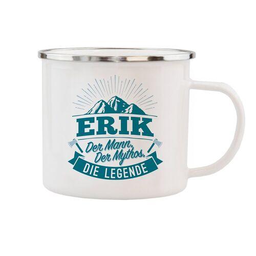 HTI-Living Becher »Echter Kerl Emaille Becher Erik«