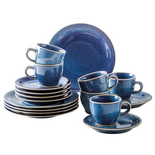 Kahla Geschirr-Set »Homestyle, 18 tlg« (18-tlg), Porzellan, atlantic blue