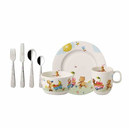 Villeroy & Boch Kindergeschirr-Set »HUNGRY AS A BEAR Kindergeschirrset 7-tlg.«, Porzellan