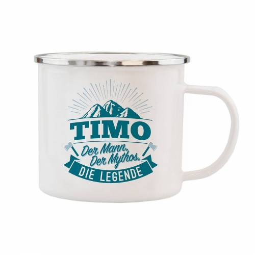 HTI-Living Becher »Echter Kerl Emaille Becher Timo«, Emaille