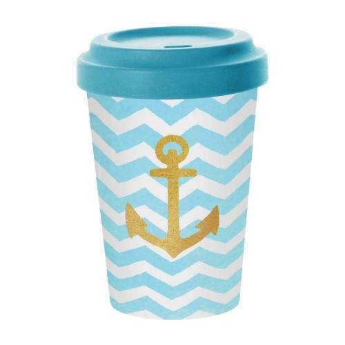 PPD Coffee-to-go-Becher »Welcome Anchor«, Bambus