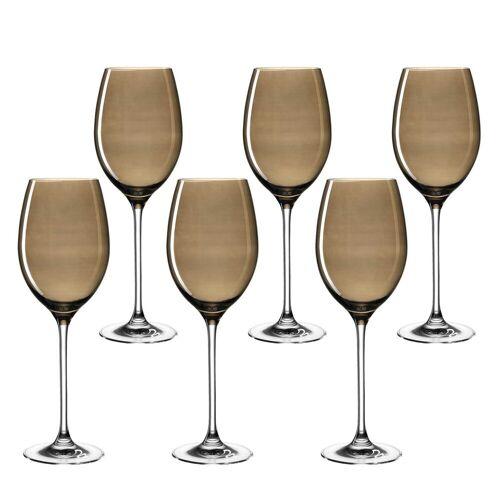 LEONARDO Weinglas »LUCENTE Universalweinglas braun 6er Set« (6-tlg)