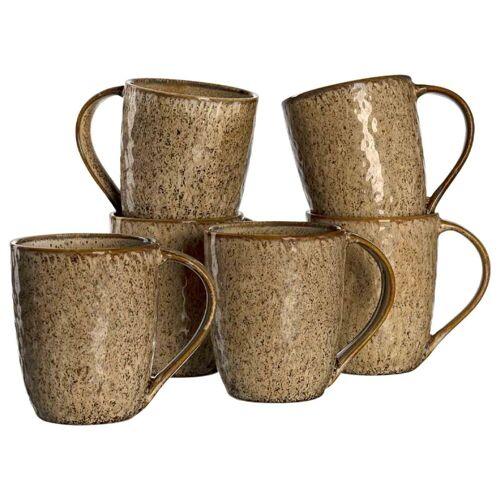 LEONARDO Becher »MATERA Keramikbecher 330 ml beige 6er Set« (6-tlg)