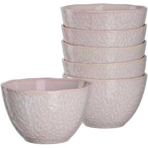 LEONARDO Dessertschale »Matera«, Keramik, (Set, 6-tlg), rosa