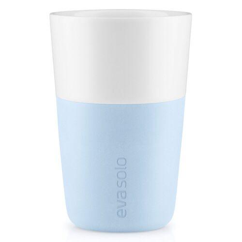 Eva Solo Becher »2 Cafe Latte-Becher Soft blue / hellblau 360 ml Kaffeebecher«