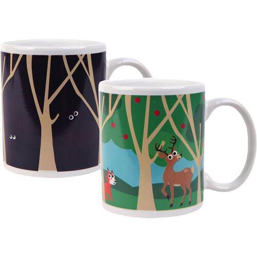 "Kikkerland Tasse »Verwandelbare Tasse ""Waldtiere Eule,Fuchs & Reh""«"