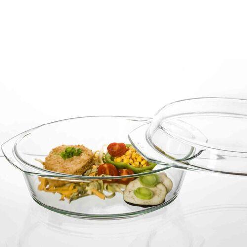 SIMAX Auflaufform »Glas Auflaufform mit Deckel 26,8 cm«, Glas