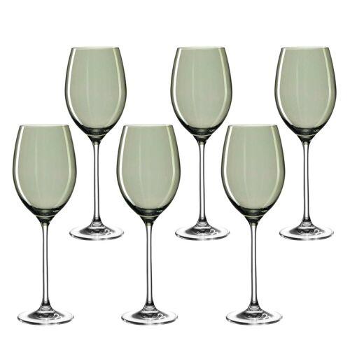 LEONARDO Weinglas »LUCENTE Universalweinglas grün 6er Set« (6-tlg)
