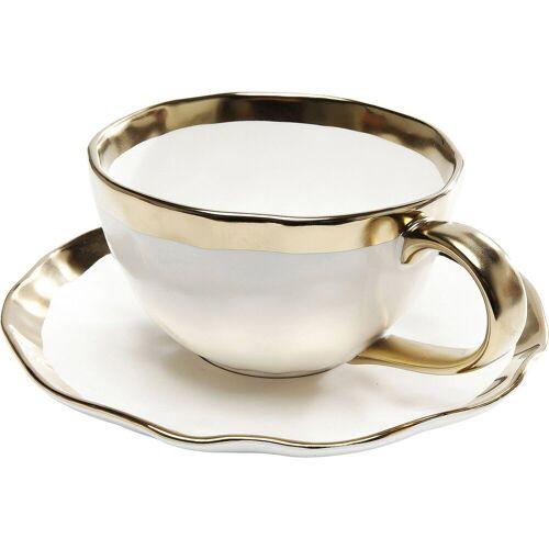 KARE Geschirr-Set »Kaffeetasse Bell 2Set« (15-tlg), Stein u. Keramik