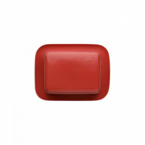 Thomas Porzellan Butterdose »Sunny Day New Red Butterdose 250 gr.«, Porzellan, (2-tlg)