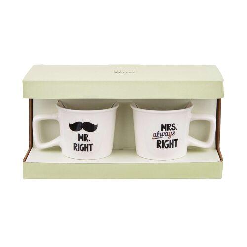 BUTLERS Espressotasse »TWO FOR YOU Espressotassen Mr Mrs Right 130ml«