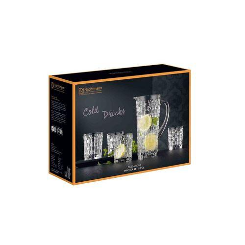 Nachtmann Gläser-Set »Bossa Nova Trinkglas Krug Set« (5-tlg), Kristallglas