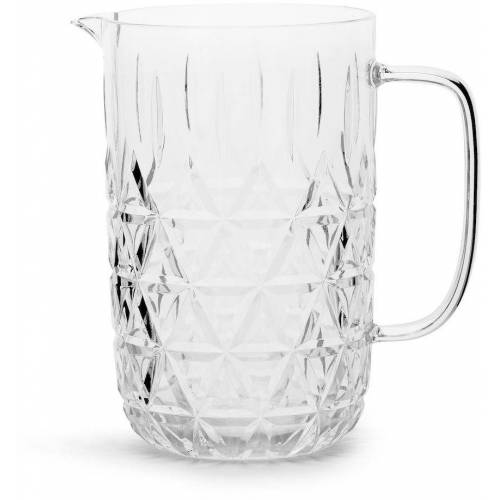 Sagaform Karaffe, 1,2 l, Acryl-Glas mit Dreieck-Prägung