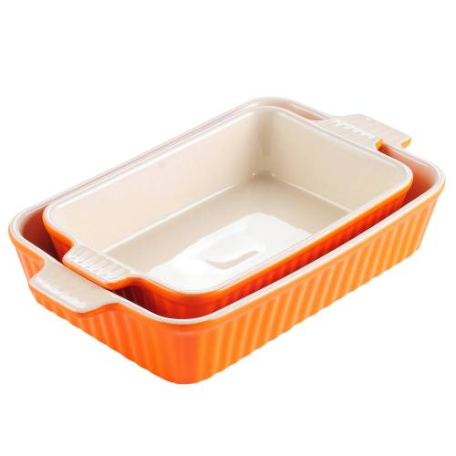MALACASA Backform »Bake.Bake«, (2-tlg), mikrowellengeeignet, Orange