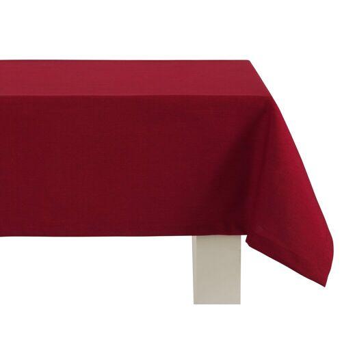 Dreams Tischdecke »UNI«, mit ca. 2,5 cm breitem Saum und edler Briefkecke, dunkelrot