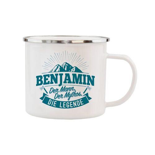 HTI-Living Becher »Echter Kerl Emaille Becher Benjamin«