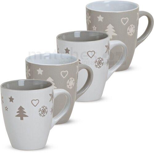 matches21 HOME & HOBBY Becher »Kaffeebecher Weihnachtsdekor 4er Set 11 cm«