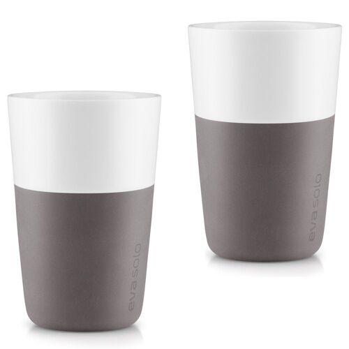 Eva Solo Becher »2 Stück Caffé Latte-Becher Elephant grey / grau 360 ml Kaffeebecher«