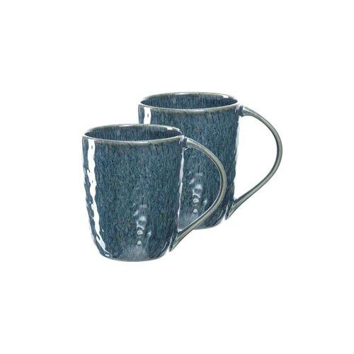 LEONARDO Becher »MATERA Keramikbecher 330 ml blau 2er Set« (2-tlg)