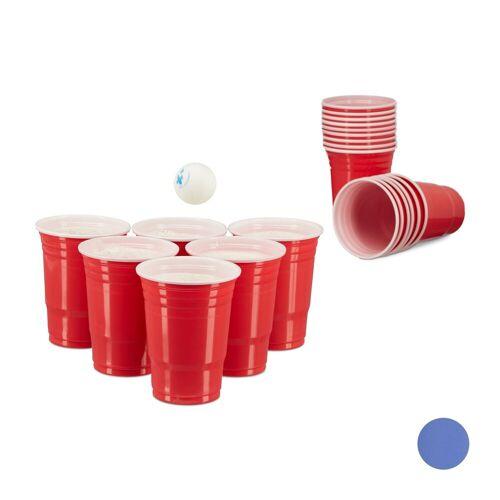 relaxdays Spiel, »Beer Pong Becher 50er Set«, Rot