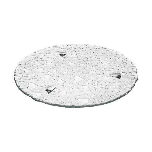 LEONARDO Tortenplatte »HEART Tortenplatte 34 cm mit Herzoptic«, (1-tlg)