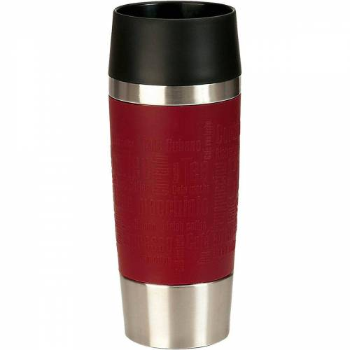 "Emsa Tasse »Isolierbecher ""Travel Mug"", 0,36 L«, rot"