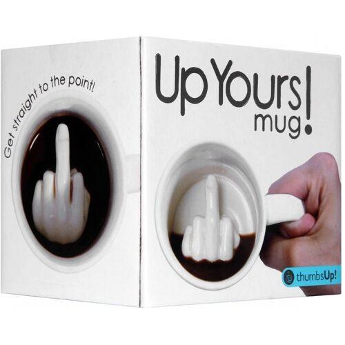 Thumbs Up Tasse »Tasse Up Yours Mug - Tasse - weiß«, Keramik