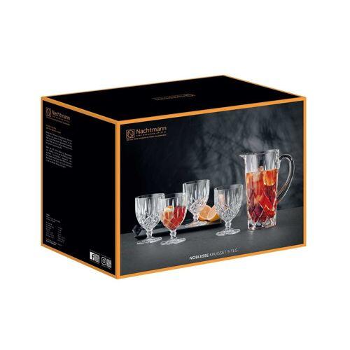 Nachtmann Gläser-Set »Noblesse Trinkglas Krug Set« (5-tlg), Kristallglas
