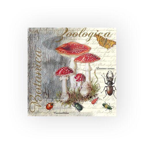 Ambiente Papierserviette »Fliegenpilze und Käfer«, (20 St), 33 cm x 33 cm
