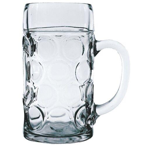Stölzle-Oberglas Bierkrug »Isar«, Maßkrug Bierseidel Bierkrug Bierglas 1.265 Liter mit Füllstrich bei 1l Glas transparent 6 Stück