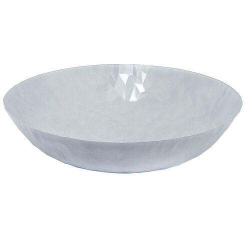 Alessi Schale »Schale Joy n.1, Centrotavola 37 cm, weiß matt«, Edelstahl 18/10
