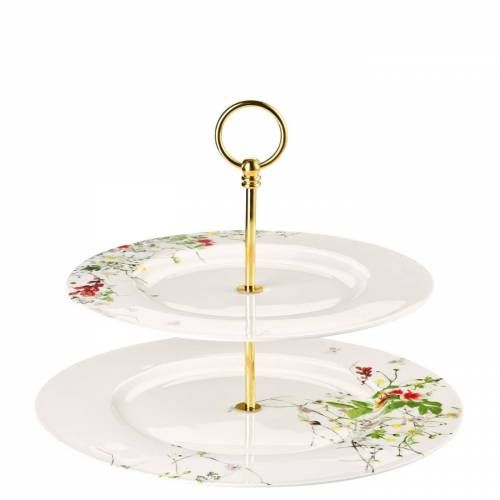 Rosenthal Etagere »Brillance Fleurs Sauvages Etagere 2-tlg mit Fahnentellern«, Porzellan, (2-tlg)