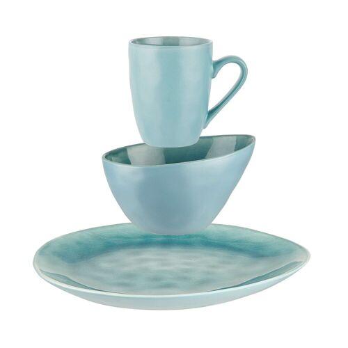 BUTLERS Frühstücksteller »DE LA ROYA Geschirr-Set zum Frühstück 12-tlg.«, Blau