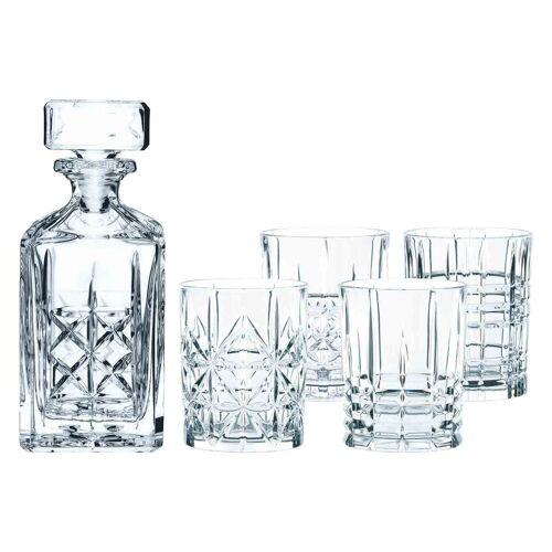 Nachtmann Whiskyglas »Highland Whisky Set Karaffe + 4 Tumbler«