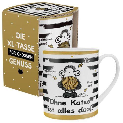 """Sheepworld Tasse »- XL Kaffee- Tasse """"Ohne Katze ist alles doof"""" 0,6l OKIAD (45991)«"""