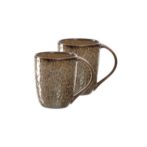 LEONARDO Becher »MATERA Keramikbecher 330 ml beige 2er Set« (2-tlg)