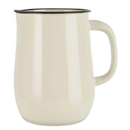 Ib Laursen Kanne »Kanne Kurg Vase Emaille 2500ml 04999 Farbe: creme (82)«, Creme (82)