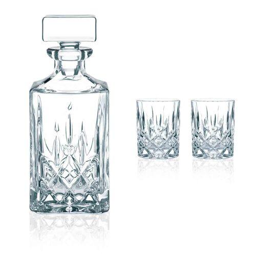 Nachtmann Whiskyglas »Noblesse Whisky Set 3-tlg Karaffe mit 2 Tumbler«
