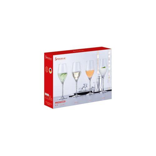 SPIEGELAU Sektglas »4-teiliges Prosecco-Set Kristallglas«, Glas