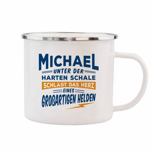 HTI-Living Becher »Echter Kerl Emaille Becher Michael«