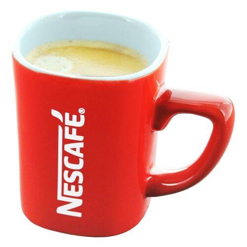 NESCAFE Becher »Kaffeebecher mit Henkel, rot, 125 ml«