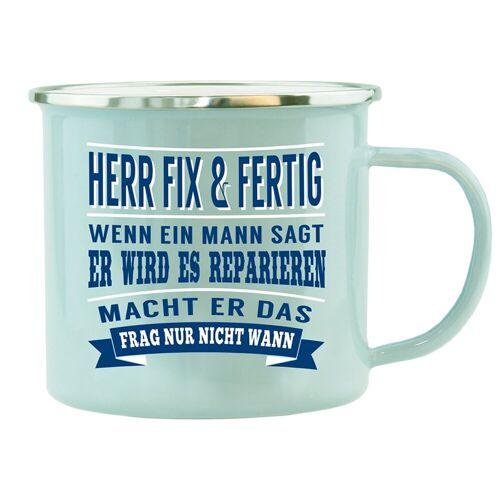HTI-Living Becher »Echter Kerl Emaille Becher Herr Fix Fertig«