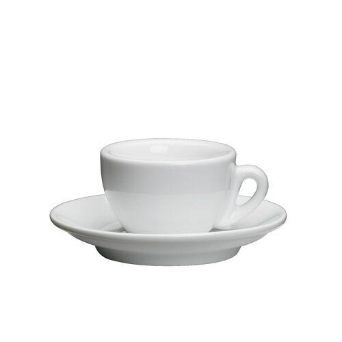 Cilio Espressotasse »Espressotasse ROMA«, Porzellan, Weiß