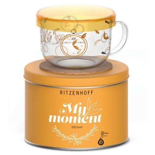 Ritzenhoff Teeglas »My Moment Kurz Kurz Design«, Borosilikatglas